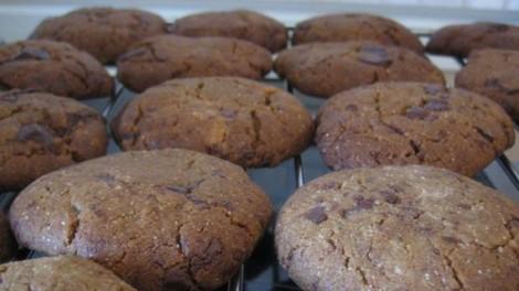 Μπισκότα ολικής με σοκολάτα