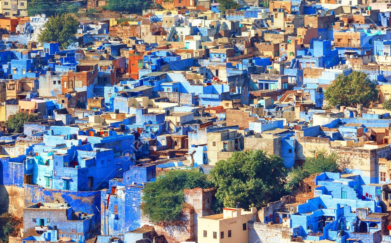 16685429-A-view-of-Jodhpur-the-Blue-City-of-Rajasthan-India-Stock-Photo